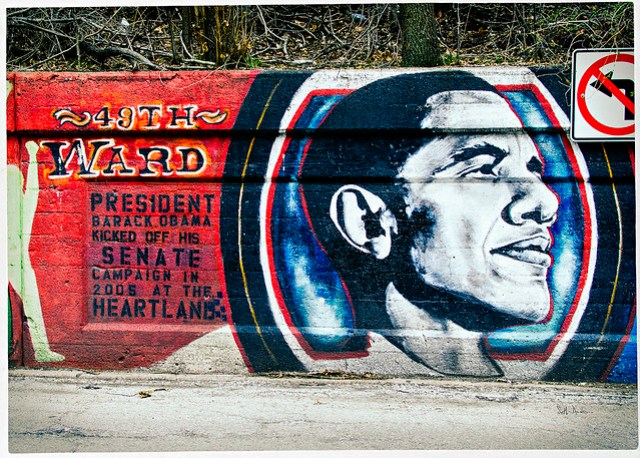 Barack Obama - 49th Ward mural