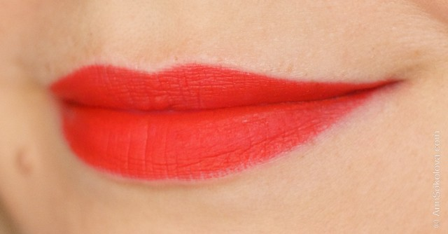11 Kiko Milano   Frosted Look Lipstick #03 Rossetto swacthes on lips