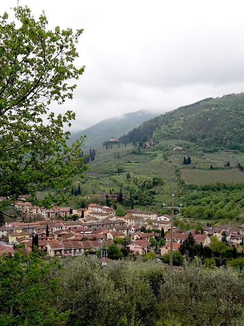 Le colline attorno a San Polo in Chianti