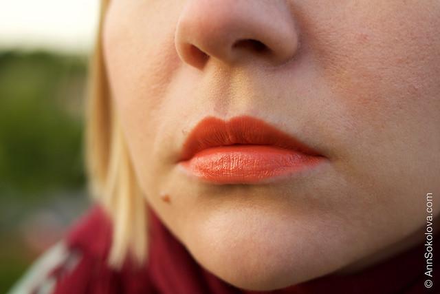 06 Guerlain KissKiss Lipstick #540 Peach Satin makeup swatches Ann Sokolova