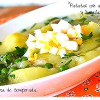 Patatas con acelgas y bacalao