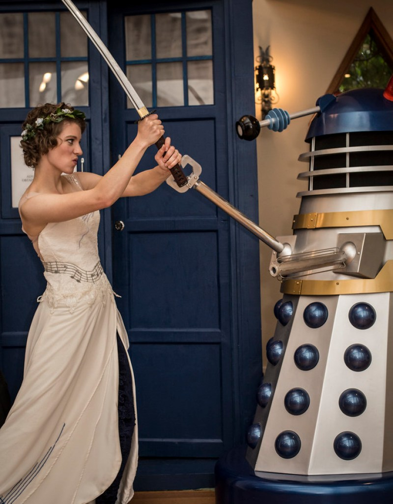 Daleks and the Sith vs. a wedding from @offbeatbride