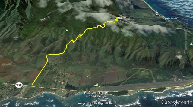 Moku'leia Access Road Google Earth Map