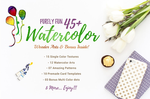 PURELY FUN 45+ Watercolor Pack