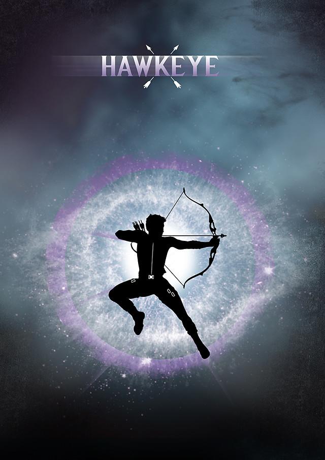 Hawkeye Silhouette Poster Design