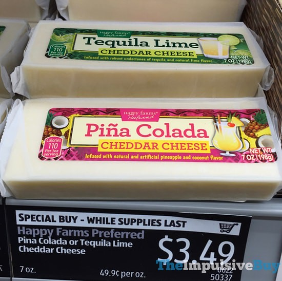 Happy Farms Pina Colada and Tequila Lime Cheddar Cheeses