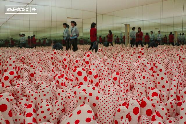 Exposición Obsesión Infinita de Yayoi Kusama en CorpArtes de Santiago -27.05.2015-