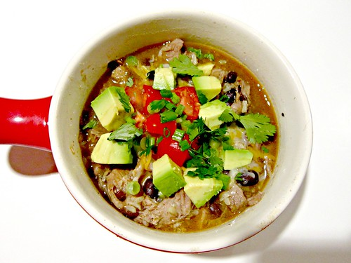 Pork Carnitas Burrito Bowl Soup