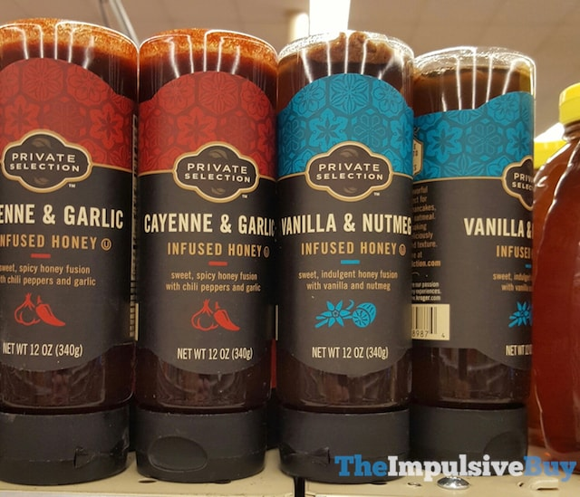 Kroger Private Selection Cayenne & Garlic and Vanilla & Nutmeg Infused Honey