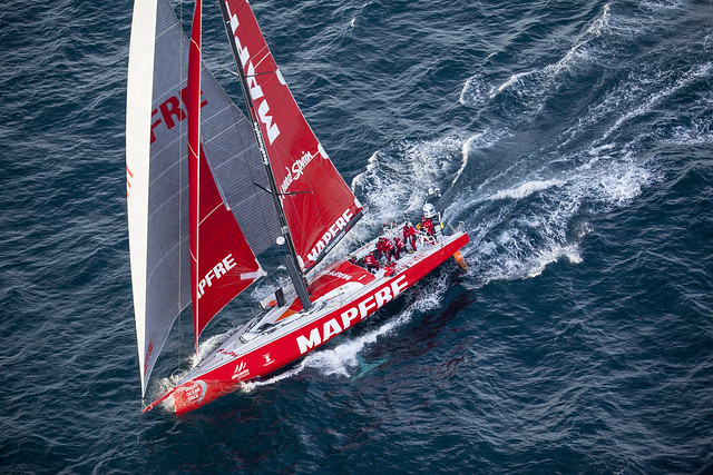 """MAPFRE"" SAILING IN THE NORTH ATLANTIC AND HEADING TO NEWPORT"