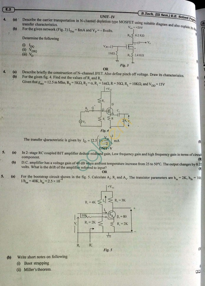 RTU: Question Papers 2014 - 3 Semester - EE - 3E1641