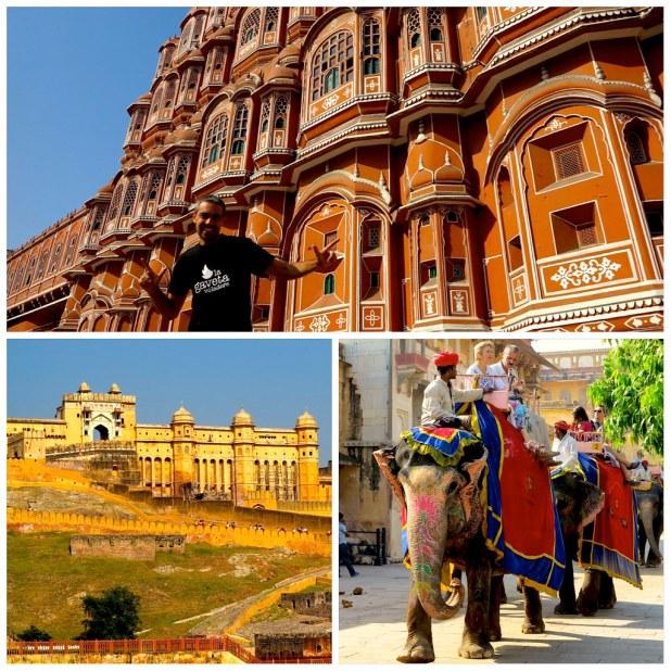 Palacio de los Vientos en Jaipur y Fuerte de Amber