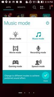 Music mode ของ ASUS Zenfone 2