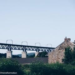 #train #overpass vs #little #village #vsco #vscocam #moresnet #nmbs #landscape #travel #wanderlust #travelgram #wallonie #belgium #belgium_unite #igbelgium