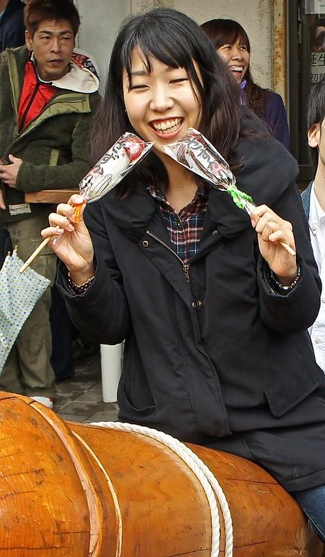 Phallus festival Kanamara Festival at Kawasaki Daishi