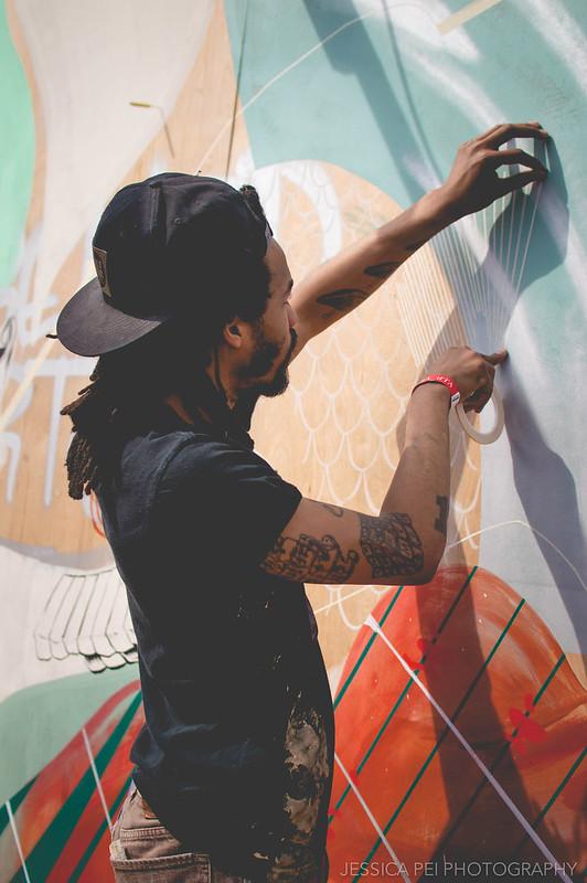 Painting Mural Cinco de Mayo Cherokee Street