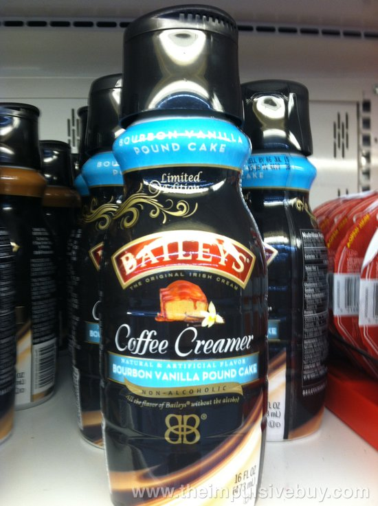 Bailey's Limited Edition Bourbon Vanilla Pound Cake Coffee Creamer