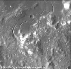 Hadley Rille on the Moon seen by SMART-1