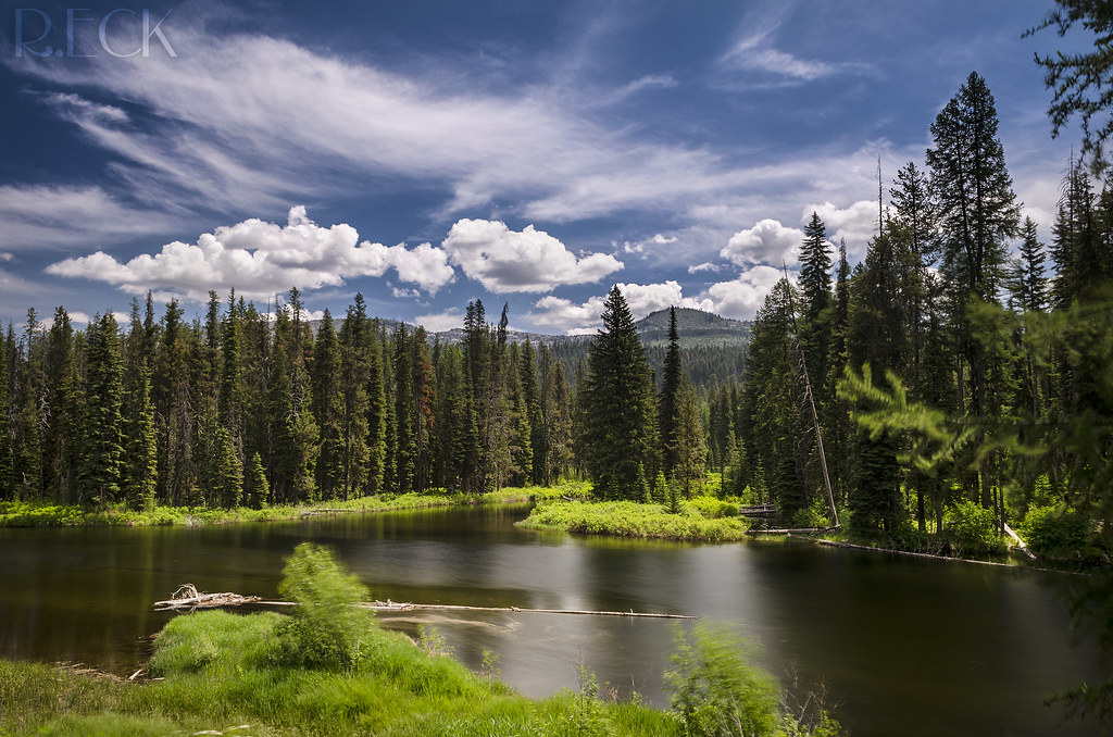 McCall Idaho  Beautiful color landscape on the edge of