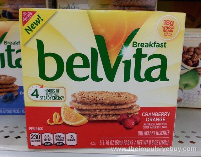 Nabisco belVita Cranberry Orange Breakfast Biscuits