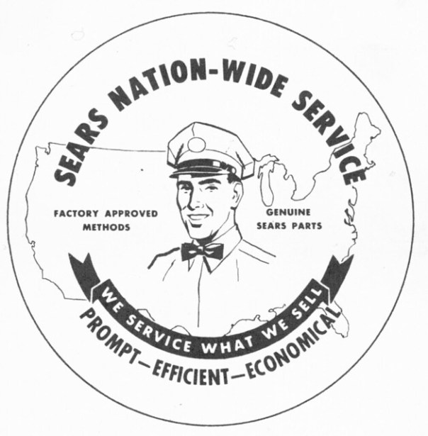 Sears Nation-Wide Service logo - 1960