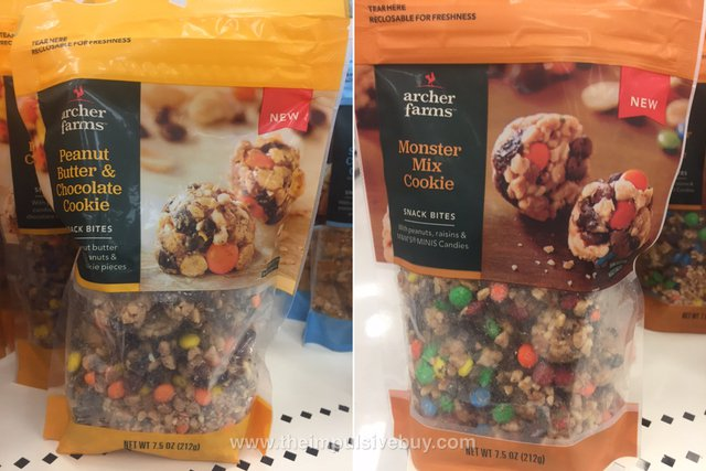Archer Farms Snack Bites (Peanut Butter & Chocolate Cookie and Monster Mix Cookie)