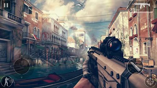 เล่นเกม Modern Combat 5: Blackout บน Samsung Galaxy S6 edge