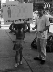 1 in 5 Canadians are depressed.