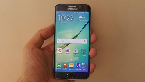 Samsung Galaxy S6 edge ด้านหน้า