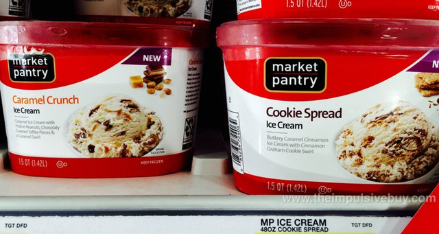 Market Pantry Ice Cream (Caramel Crunch and Cookie Spread)