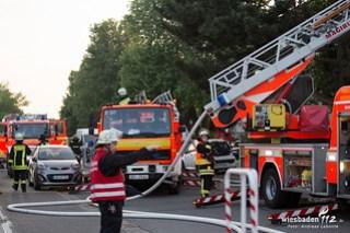Dachstuhlbrand - Karlsbader Straße - Rüsselsheim