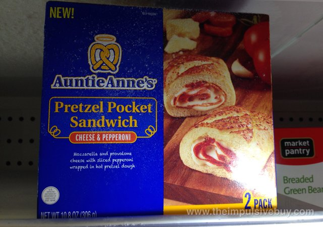 Auntie Anne's Cheese & Pepperoni Pretzel Pocket Sandwich