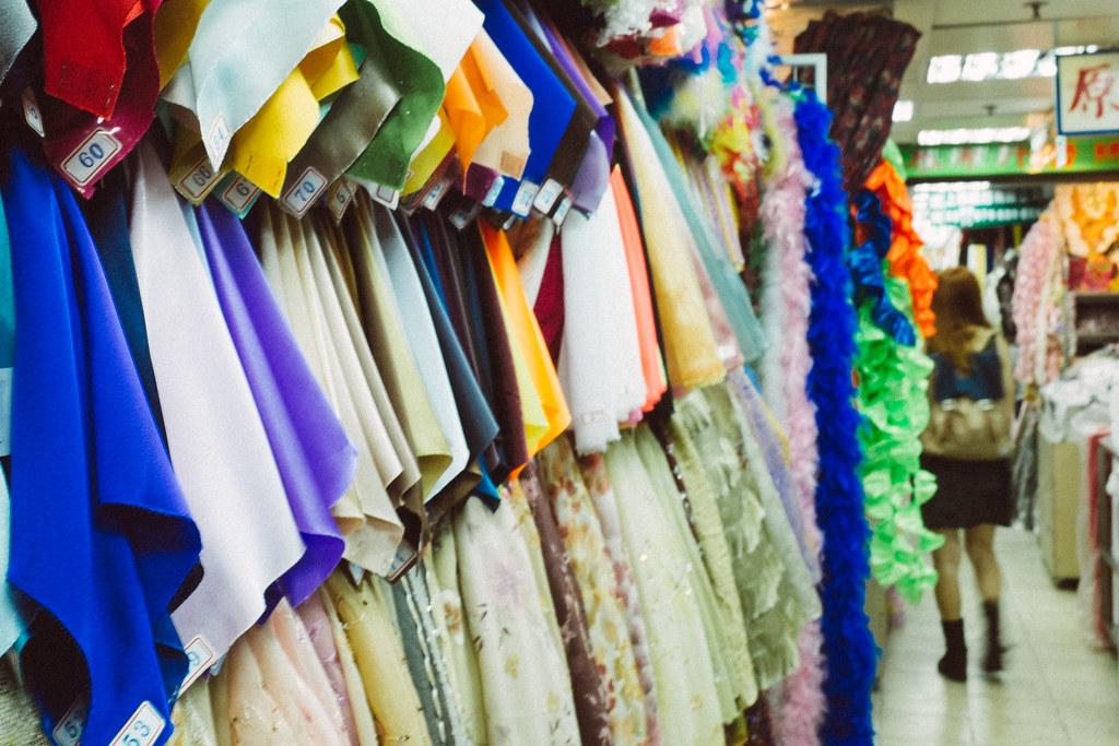 el mercado de las telas en dihua street