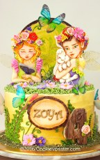 Enchanted forest Fairy cake ©Cookievonster2016