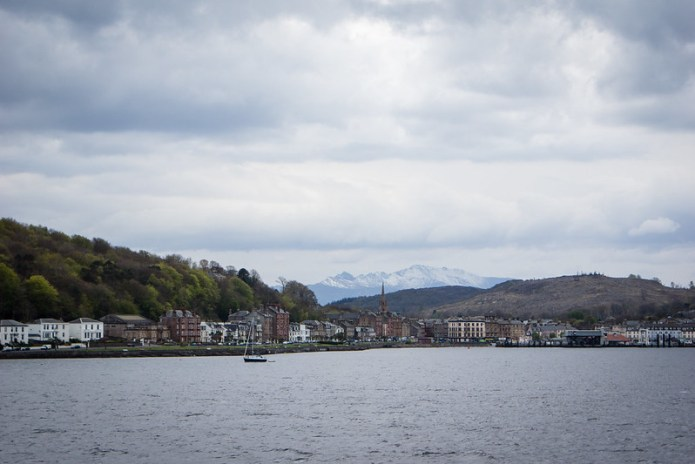 Snow covered peaks at Rothesay