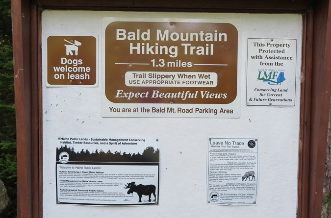 Bald Mountain Trail Sign