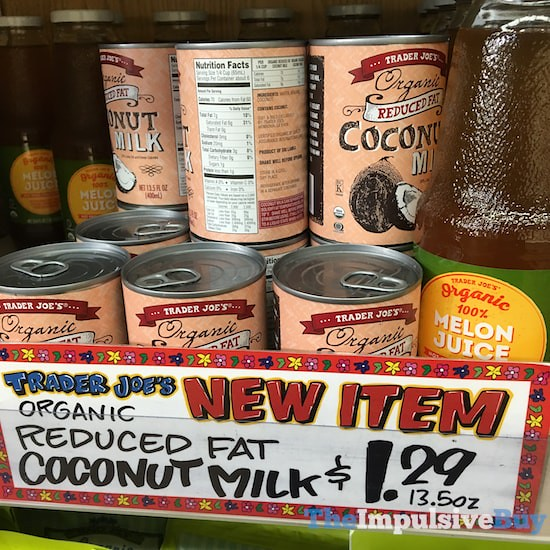 Trader Joe's Organice Reduced Fat Coconut Milk