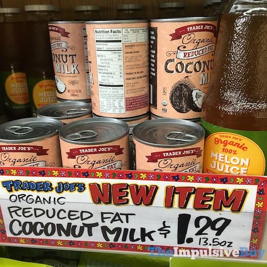 Trader Joe's Organice Reduced Fat Coconut Milk