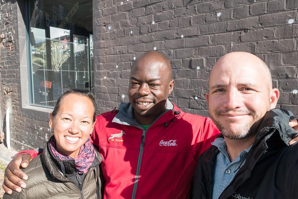 Heather, Juma and Matt - Juma Art Tours.