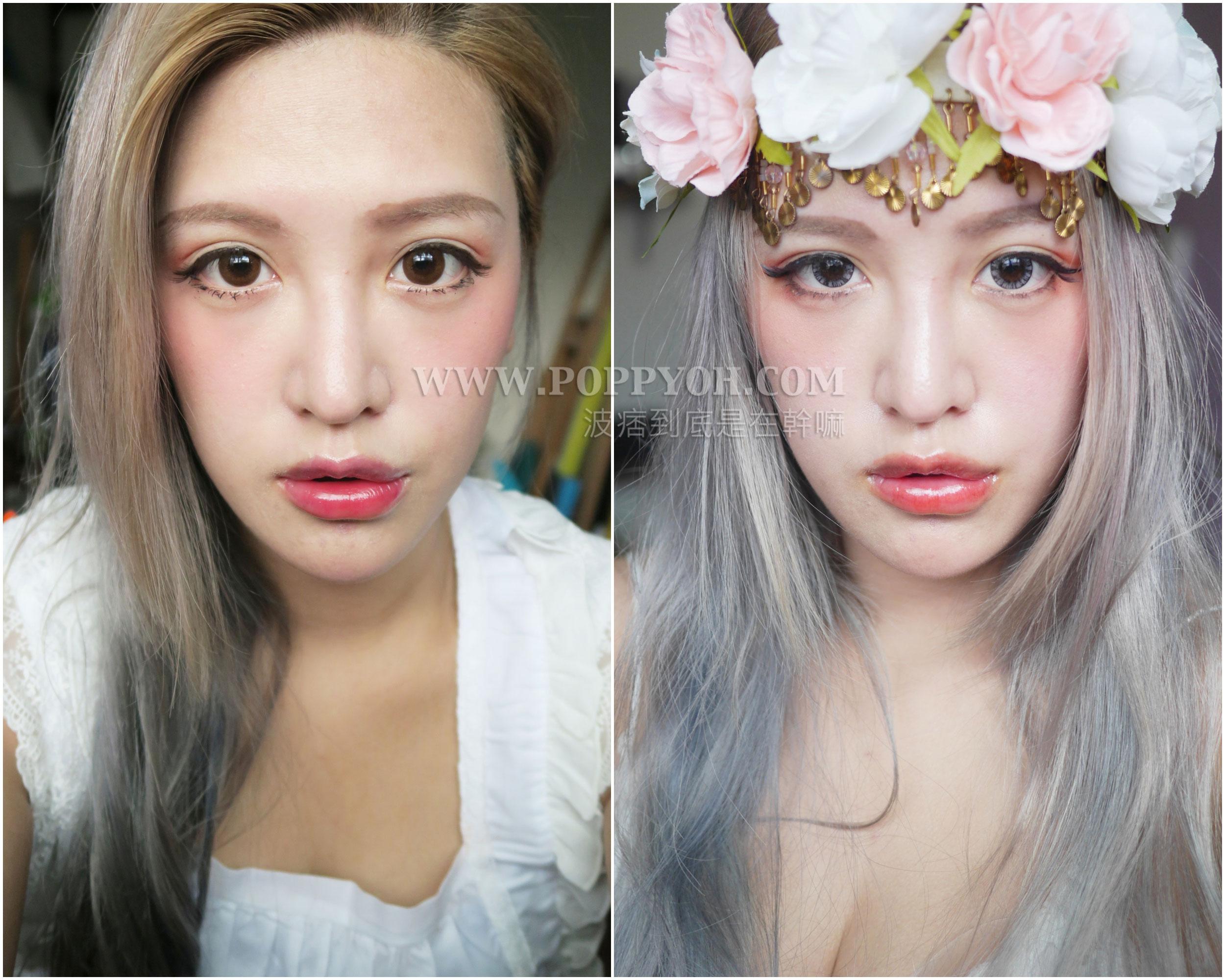 化妝教學 單眼皮/內雙/外雙眼皮都能畫的紅色系眼影。簡單花瓣日常妝   波痞到底是在幹嘛?