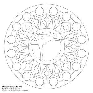 Mandala template 032