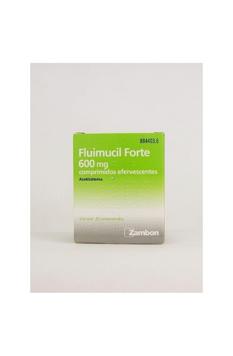 FLUIMUCIL FORTE 600 MG 20 COMPRIMIDOS EFERVESCEN - Farmacia Coruxo