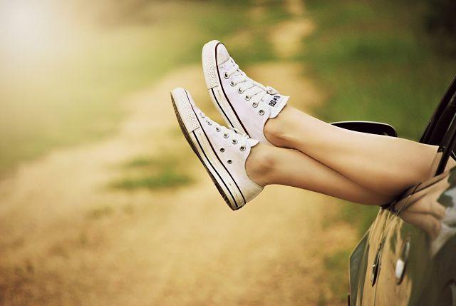 los pies en verano
