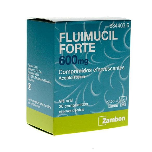 Fluimucil Forte 600 Mg 20 Comprimidos Efervescentes.