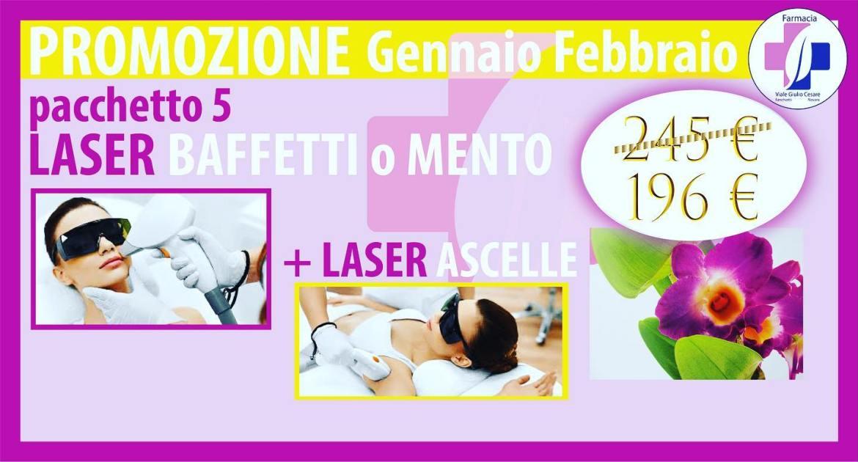 Promozione epilazione laser pacchetto baffetti mento e ascelle scontato Centro Estetico Giulio Cesare Novara