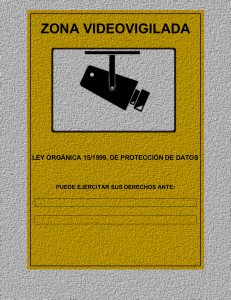 Logo de videovigilancia protección de datos oficial