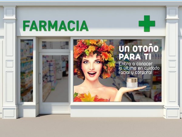 escaparate de farmacia farmaflow