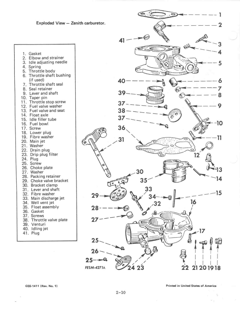 International 284 Carburetor