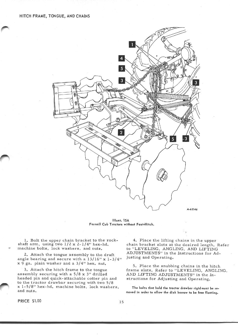 Cub-L 38 Disc Harrow Manual