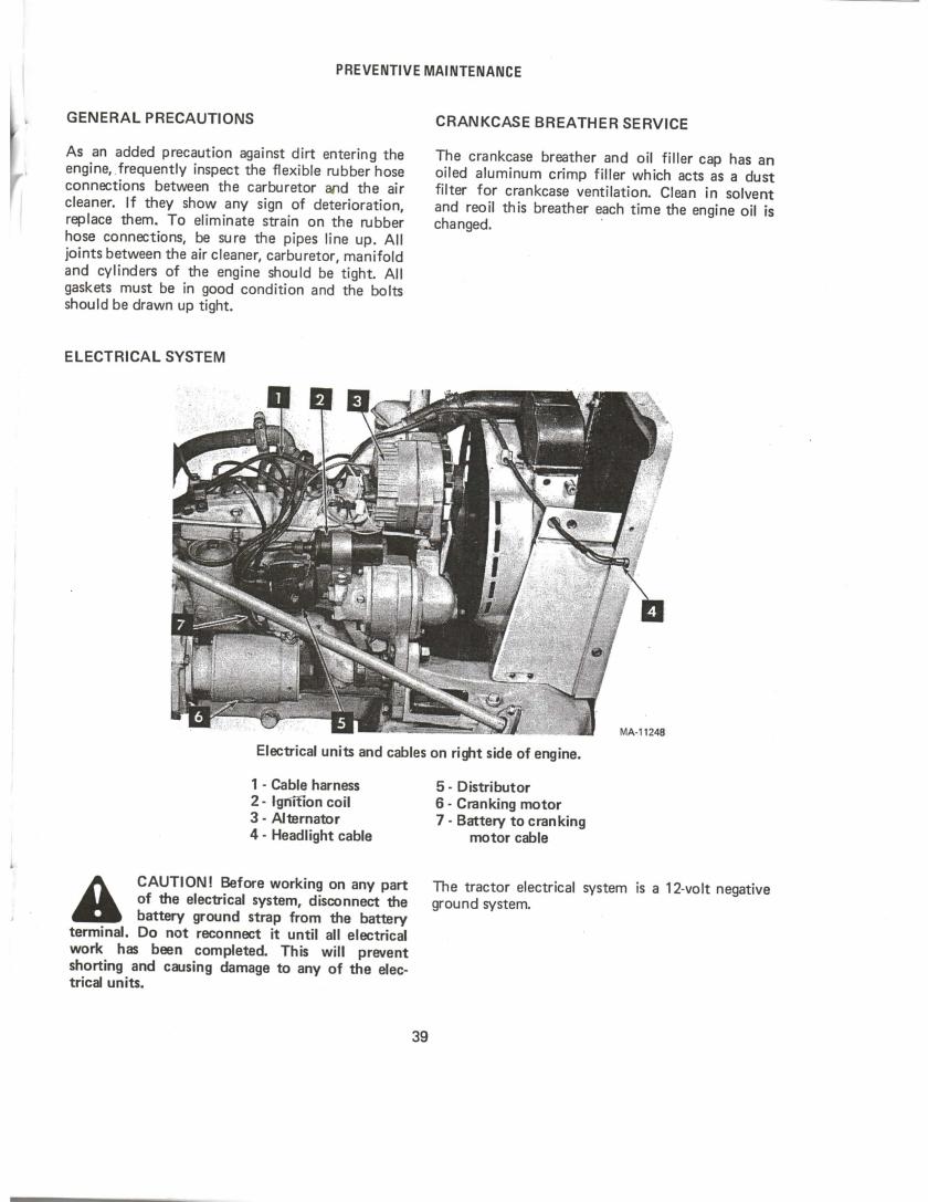 International Cub Tractor Operator's Manual Rac 1084506R3
